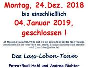 Weihnachtsurlaub 2018